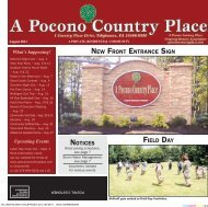 August - A Pocono Country Place