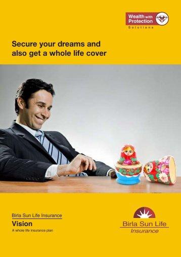 Vision Plan Brochure A5.cdr - Life Insurance - Birla Sun Life