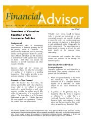 Overview of Canadian Taxation of Life ... - Sun Life Financial