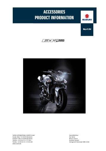 ACCESSORIES PRODUCT INFORMATION - Motocykly Suzuki