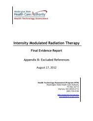 Intensity Modulated Radiation Therapy Final Evidence Report