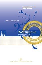 einführung - Bach Cantatas