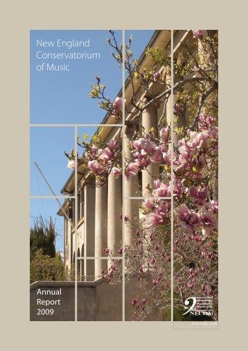 Annual Report 2009 - New England Conservatorium of Music ...