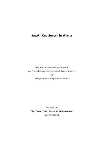 Suzuki-Kupplungen in Wasser - OPUS - Universität Erlangen ...