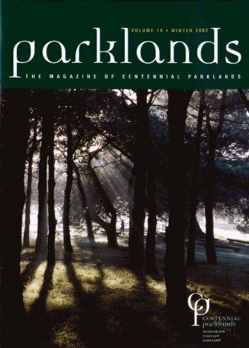 Vol 19 Winter 2002 - Centennial Parklands