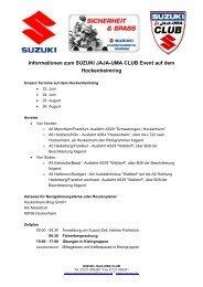 Informationen zum SUZUKI JAJA-UMA CLUB Event auf dem ...