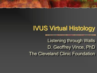 IVUS Virtual Histology - summitMD.com