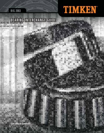 Timken Bearing Interchange Guide