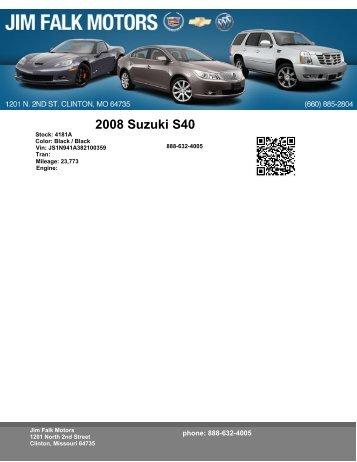 2008 Suzuki S40 - eCarList