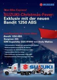 SUZUKI-Christmas-Fever: Exklusiv mit der neuen Bandit 1250 ABS