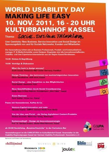 Einladung WUD 2011 Regionalgruppe Kassel/Nordhessen