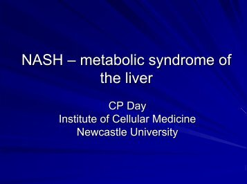 NASH – metabolic syndrome of the liver - Dr. Falk Pharma GmbH