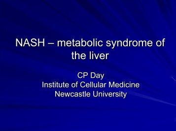 NASH – metabolic syndrome of the liver - Dr. Falk Pharma GmbH