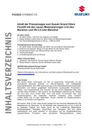 Suzuki Grand Vitara - Presse