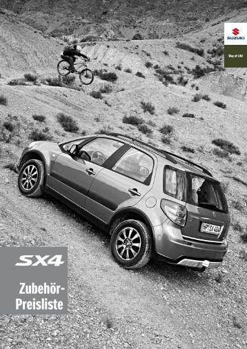 Fiat Sedici Alloy Wheels Zubehor-preisliste-suzuki