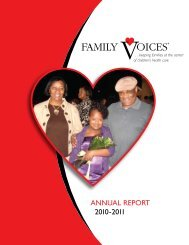 ANNUAL REPORT 2010-2011 - Family Voices