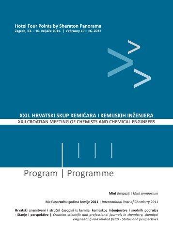 Program - XXII. hrvatski skup kemičara i kemijskih inženjera ...