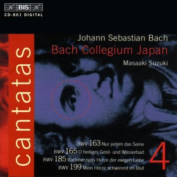 Bach Cantatas, Vol. 4 -M. Suzuki & Bach Collegium Japan (BIS CD)