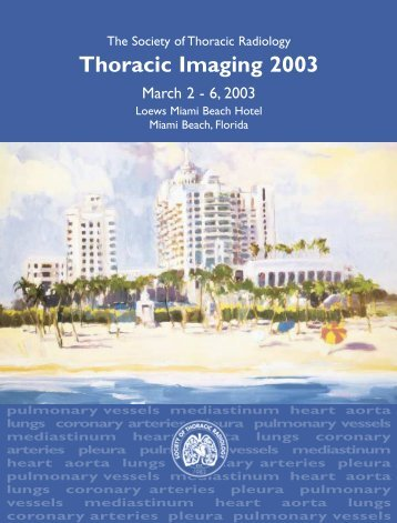 Thoracic Imaging 2003 - Society of Thoracic Radiology