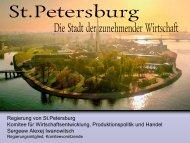 Entwicklung St Petersburg - Kooperation-International