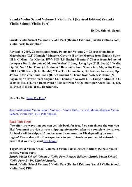 Suzuki Violin School Vol 1 Pdf
