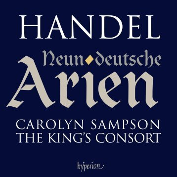 Handel: Neun deutsche Arien - Mark Polesky, pianist