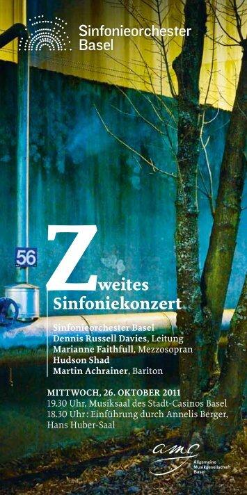 Zweites Sinfoniekonzert - Schweizer Radio und Fernsehen