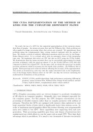 the cuda implementation of the method of lines for the curvature ...