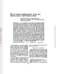 Effect of Dietary Supplementation of Iron and Ascorbic Acid on Lead ...