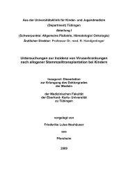 Untersuchungen zur Inzidenz von Viruserkrankungen nach ...