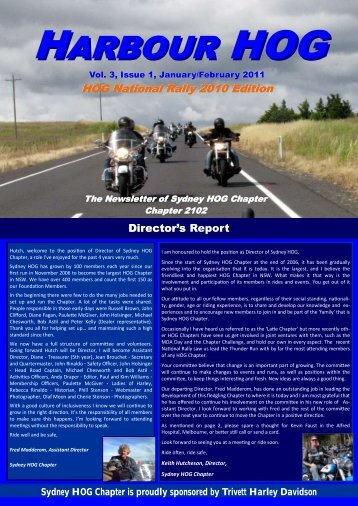 January/February 2011 Rides and Events - Sydney HOG Chapter