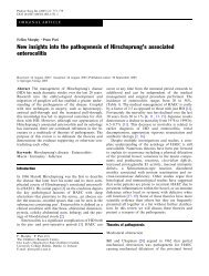 New insights into the pathogenesis of Hirschsprung's associated ...