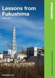 Lessons from Fukushima - Greenpeace