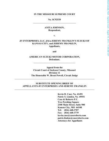 IN THE MISSOURI SUPREME COURT No. SC92539 ANITA ...