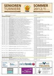 sommer senioren turniere 2012/11 - Senior Tennis Swiss