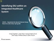Identifying DILI – Analysis of a Large Database - American ...