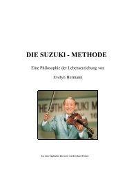 Suzuki-Methode - und Suzuki Studio Bernhard Fischer