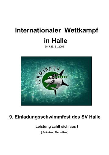 9. Einladungsschwimmfest des SV Halle Leistung zahlt sich aus - DSV