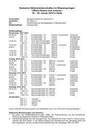 Deutsche Hallenmeisterschaften im Wasserspringen - Offene Klasse ...