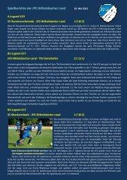 Spielberichte der JFG Wittelsbacher Land - jfgwittelsbacherland.de