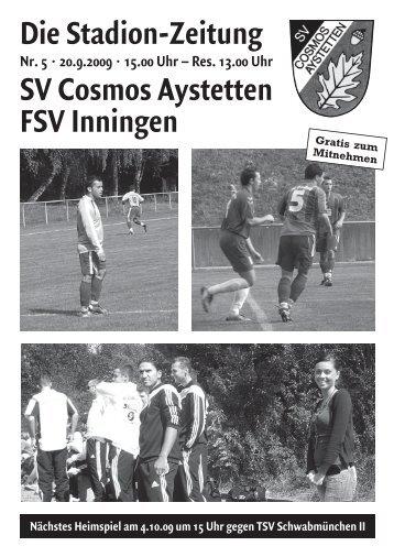 2 aufstellung - SV Cosmos Aystetten