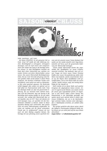 Saison 2010/11 - SV Thierhaupten