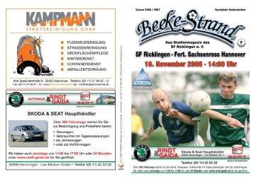 SF Ricklingen 7.indd - Sportfreunde Ricklingen