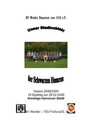 Husar Saison TSV Fortuna/S. Hannover II - BV Werder