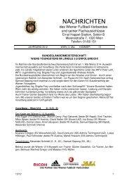Anmeldung Klasseneinteilung Saison 2012 / 2013 - WFV