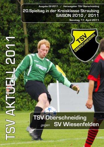 TSV Oberschneiding gegen SV Wiesenfelden - des TSV ...