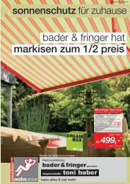 WOHNUNION- Parkettsortiment - Bader & Fringer