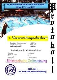 32. Sommerschwimmfest in Haselünne 18. und 19. Juni 2011