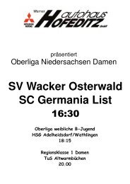 SV Wacker Osterwald SC Germania List
