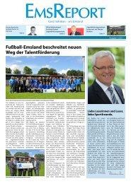 Fußball-Emsland beschreitet neuen Weg der Talentförderung